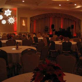 Special Effects Snowflakes and Lighting at Plaza Resort.